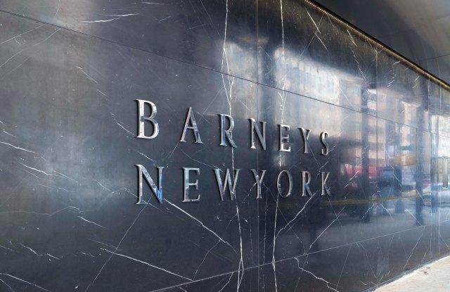 Barneys New York marble exterior.
