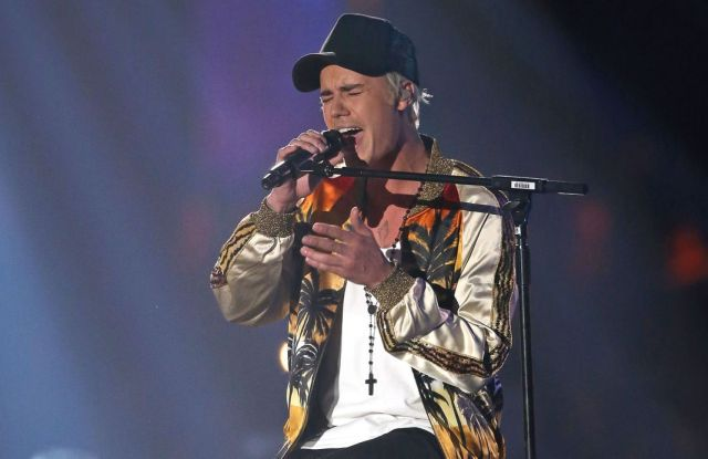 Justin Bieber in Saint Laurent