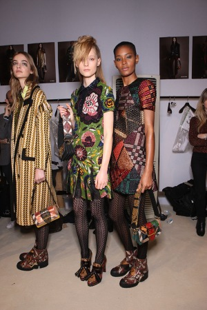 Backstage at Burberry RTW Fall 2016