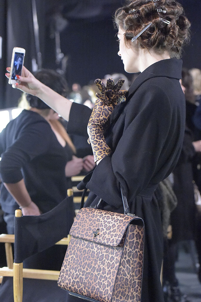 Backstage at Charlotte Olympia RTW Fall 2016