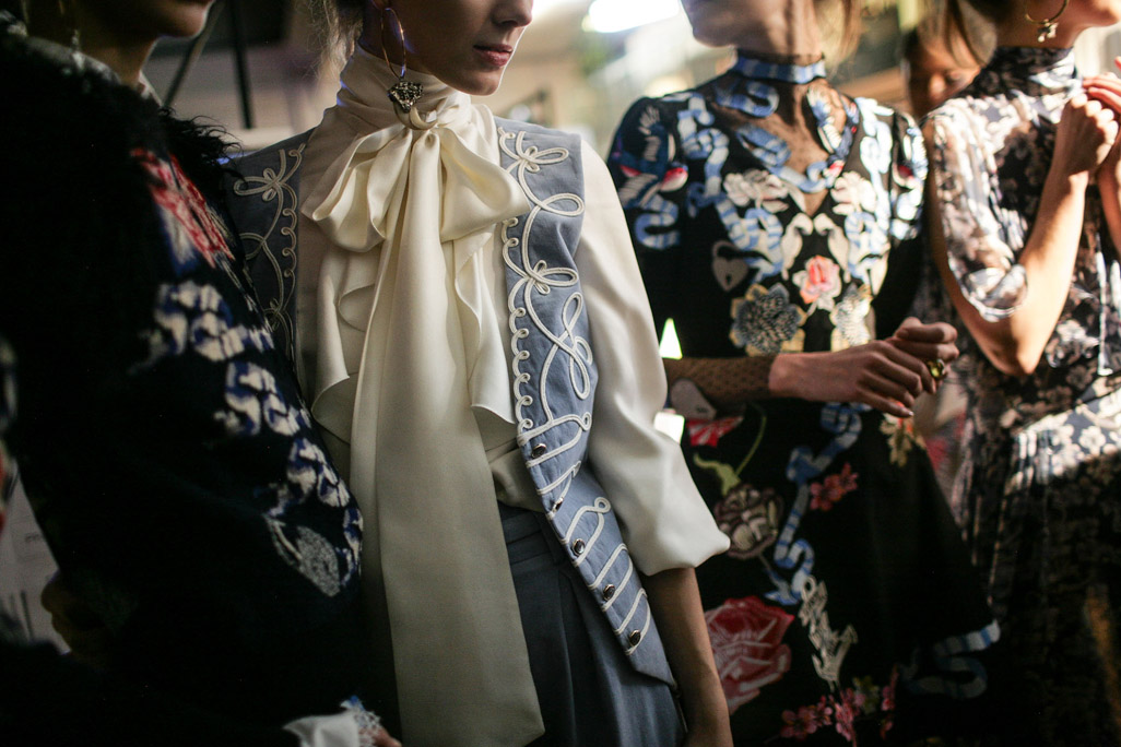 Backstage at Temperley London RTW Fall 2016