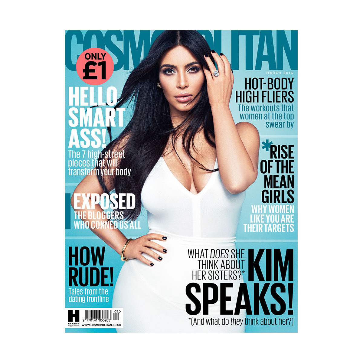 The March 2016 cover of Cosmopolitan UK