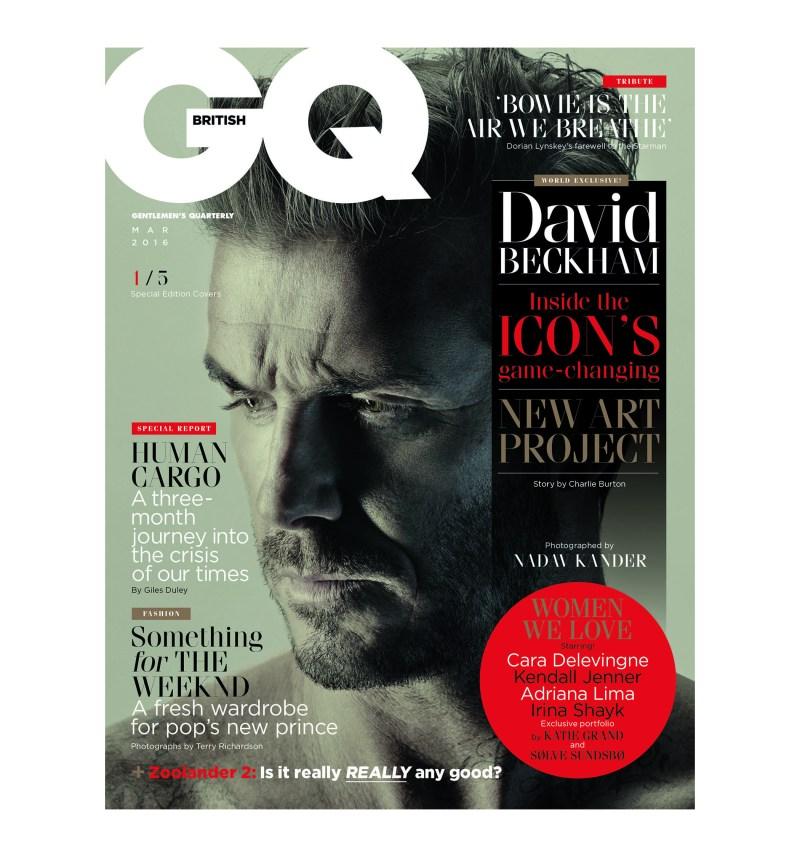 David Beckham S British Gq Magazine Covers Photos Wwd