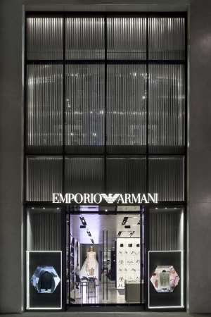 The exterior of Emporio Armani's Rodeo Drive boutique