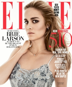 Brie Larson for Elle's March issue.