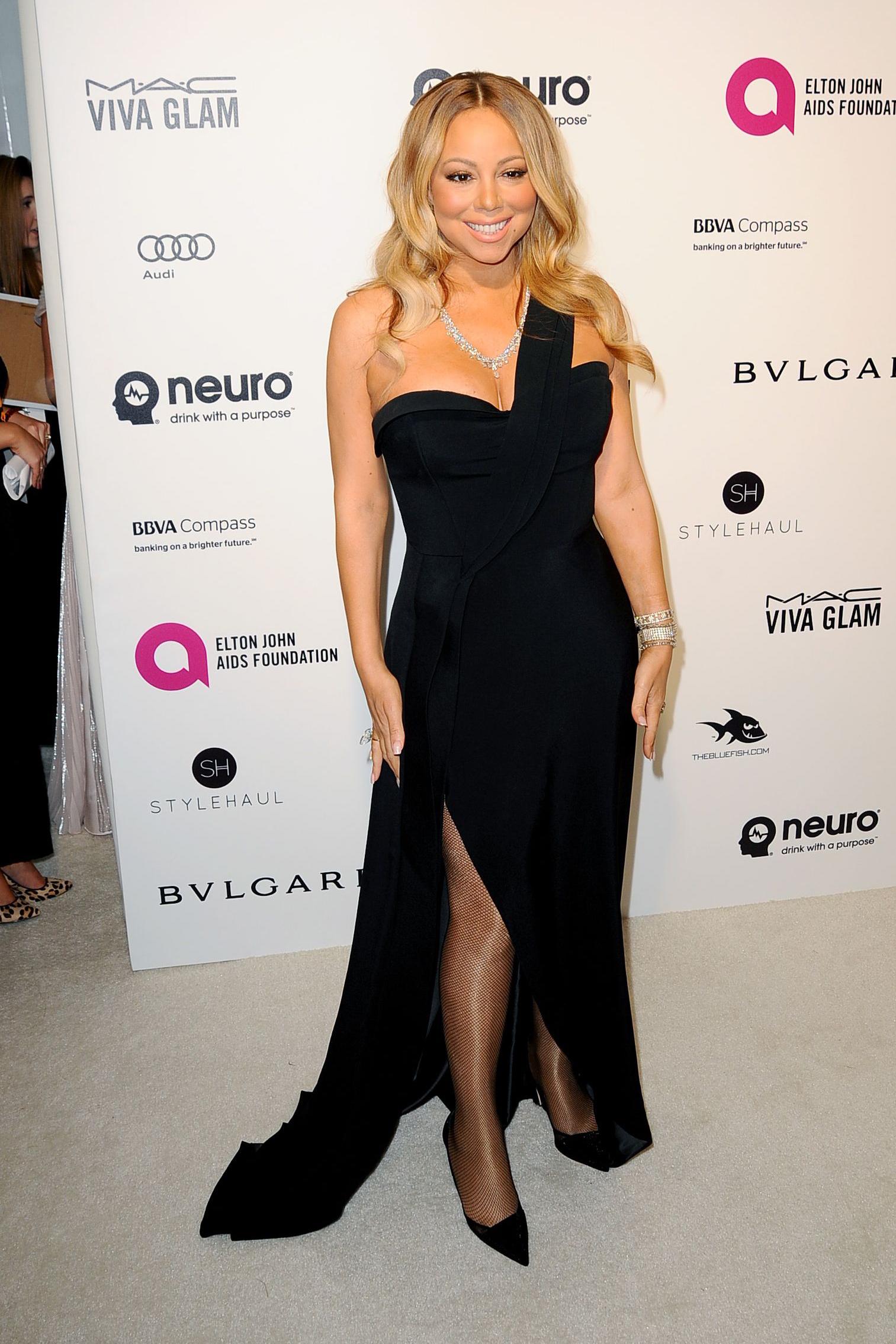 Mariah Carey Elton John AIDS Foundation 2016 Academy Awards Party