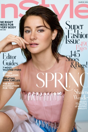 Shailene Woodley on the redesigned InStyle.