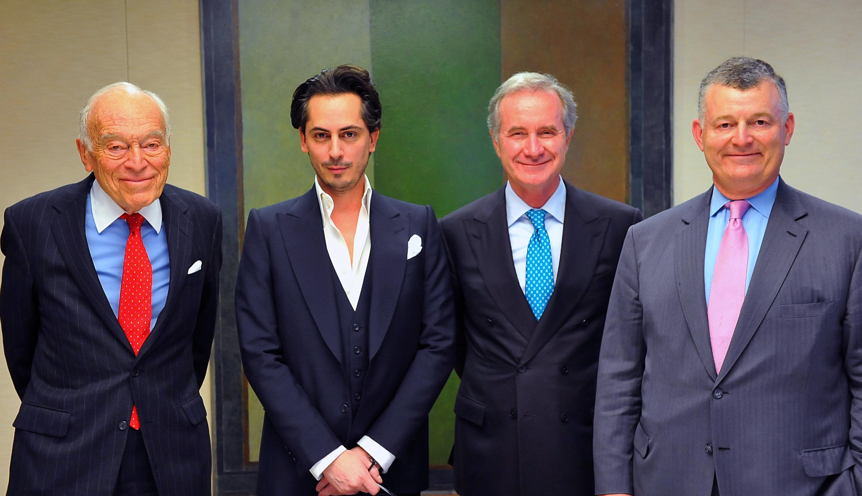 Leonard A. Lauder, Kilian Hennessy, Fabrizio Freda and William P. Lauder