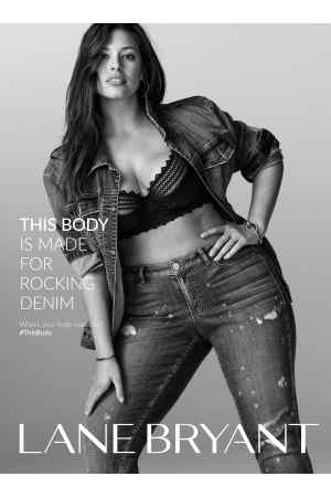 A visual from the #Thisbody Lane Bryant add campaign