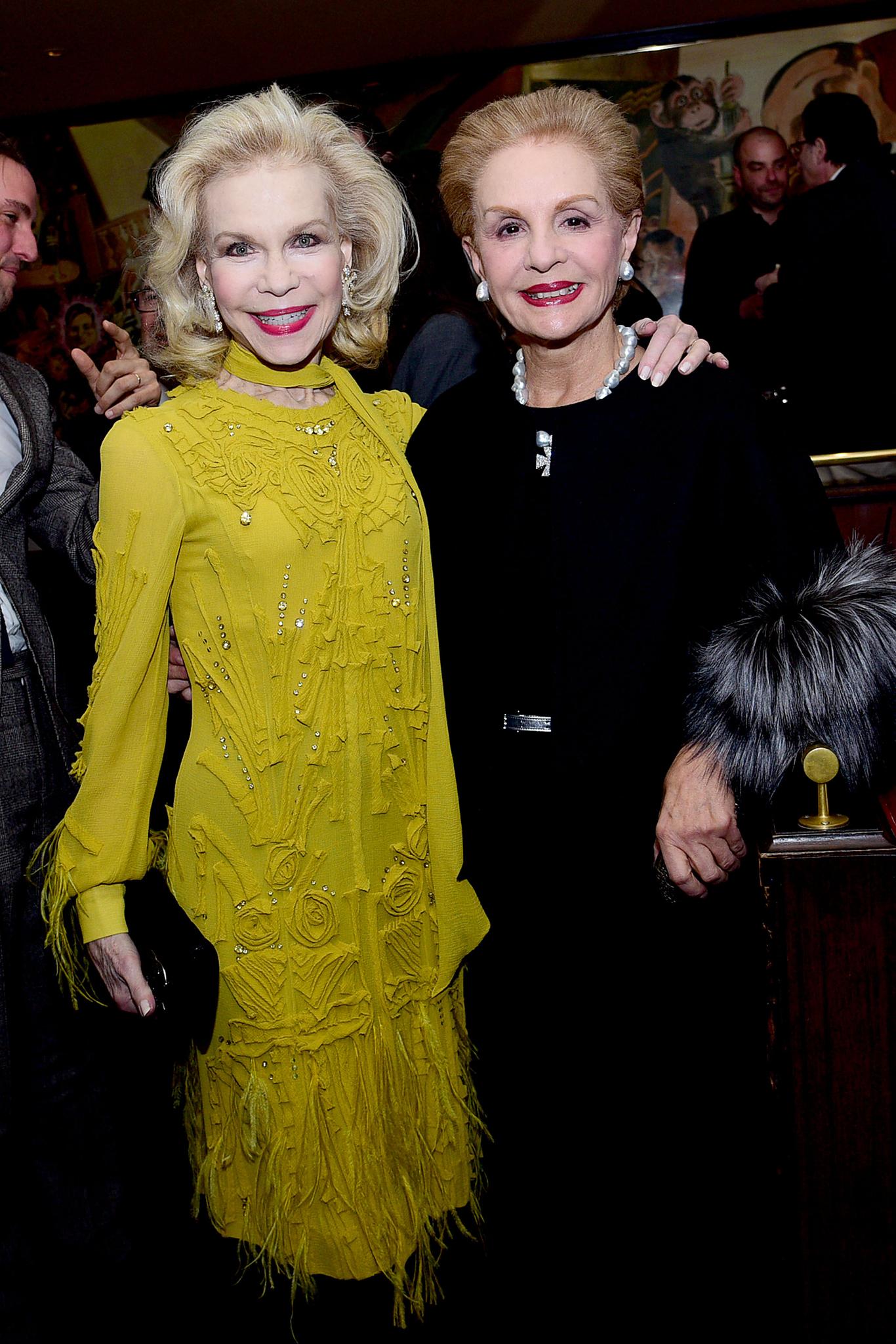 Lynn Wyatt and Carolina Herrera Paddle8 celebrates Lynn Wyatt with a Champagne Reception at the Monkey Bar