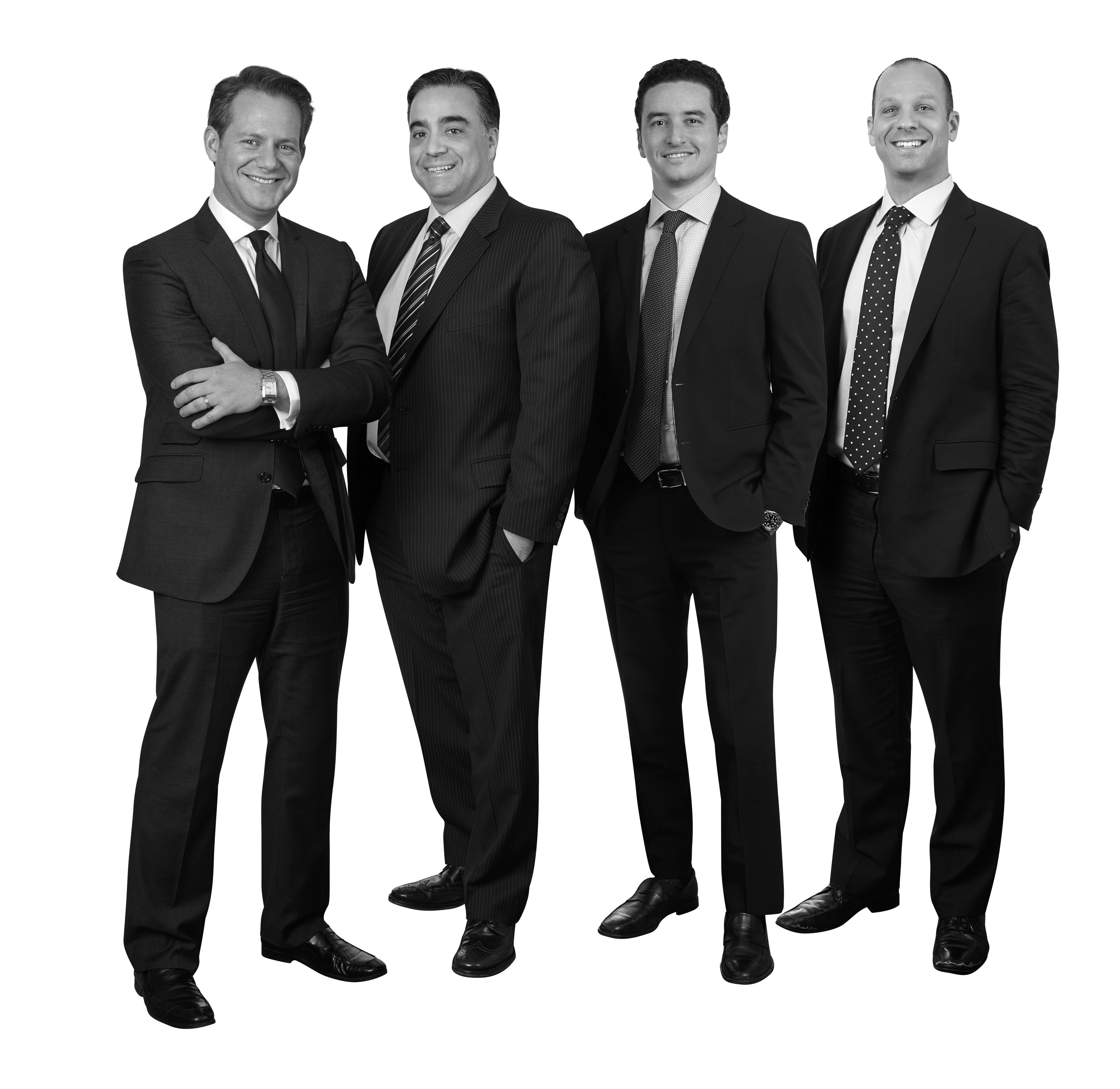 left to right; Cory M. Baker, Michael DeVirgilio, Zachary Sigel and Samuel Porat