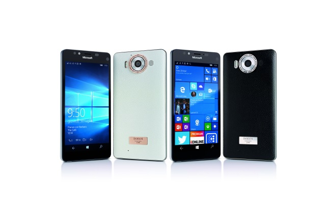 Damiani's limited edition covers for the Microsoft Lumia 950