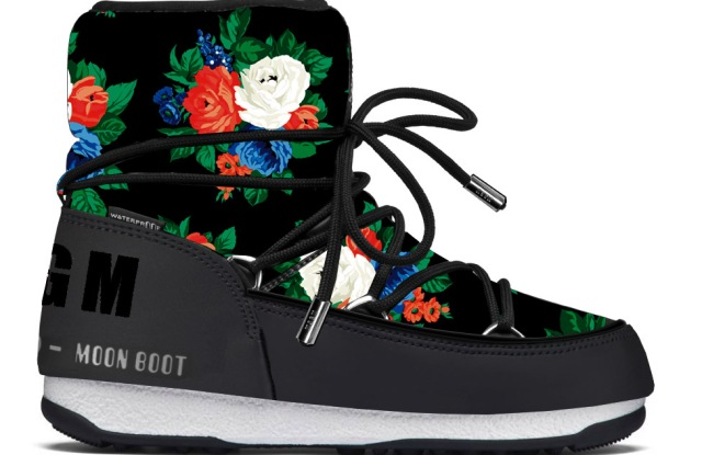 A model from the MSGM and Moon Boot capsule collection