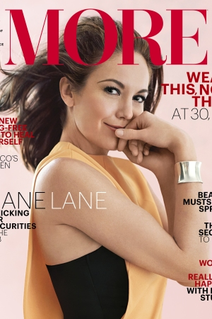 Diane Lane on the cover of More's March issue.