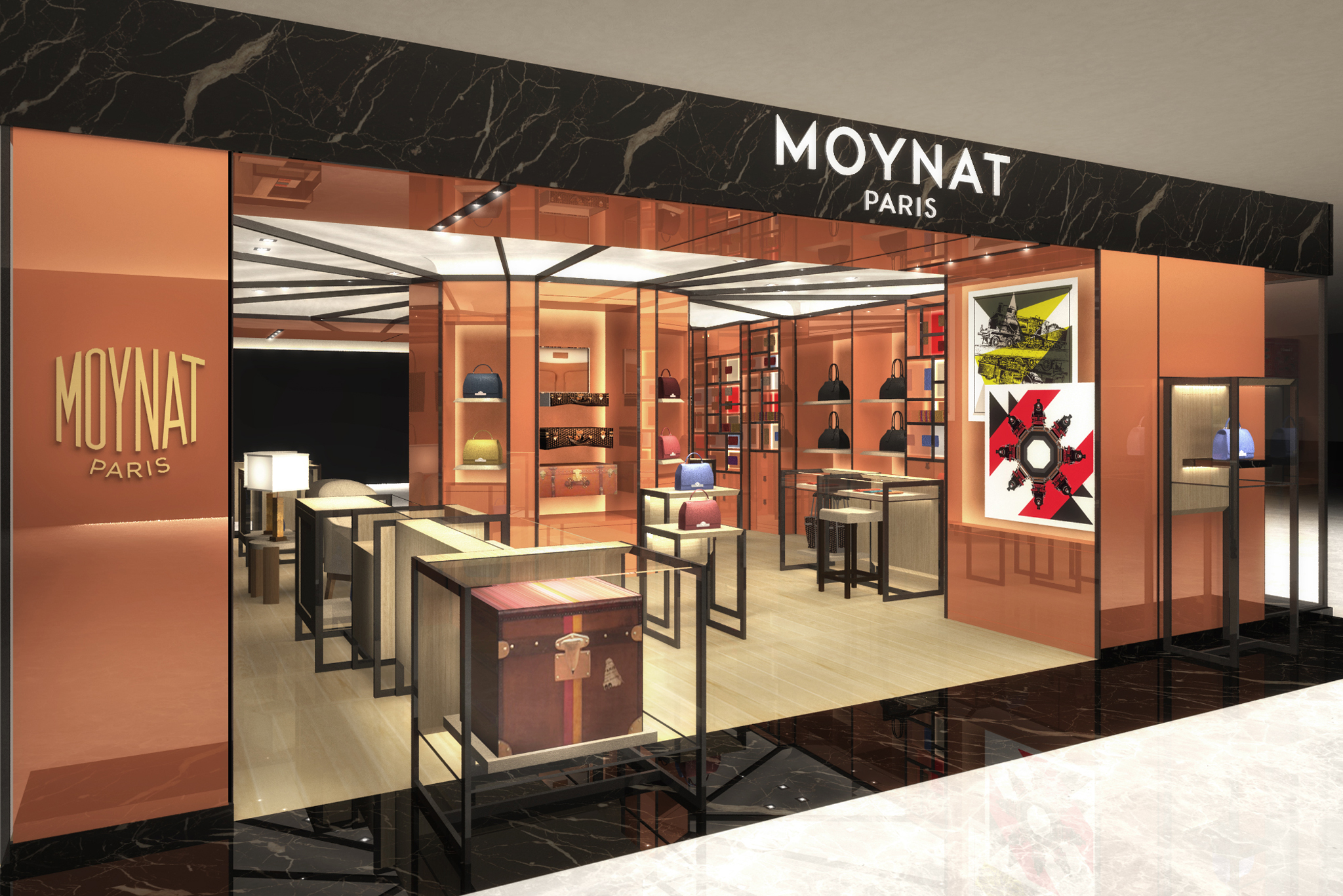 A rendering of the Moynat store in Tokyo