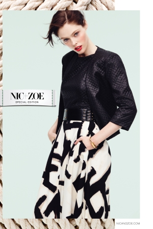 Coca Rocha is featured in Nic + Zoe's spring ad campaign.