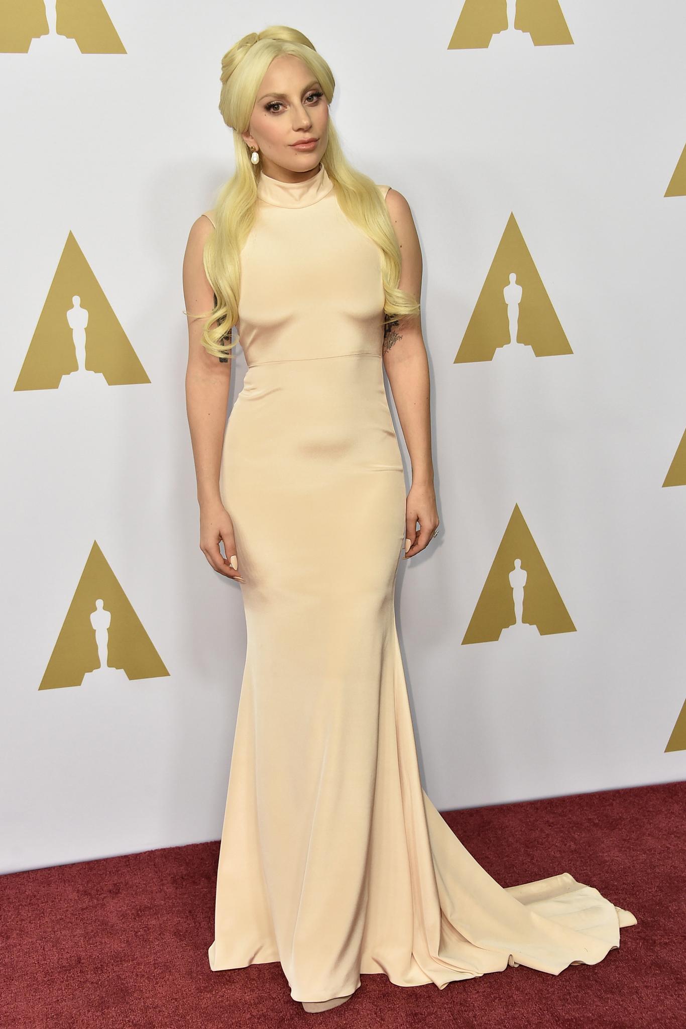 Lady Gaga 88th Academy Awards Nominees Luncheon 2016