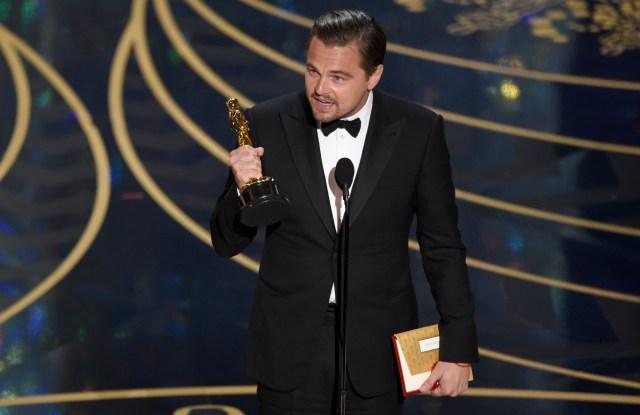 "Leonardo DiCaprio wins Best Actor for ""The Revenant."" oscars 2016"