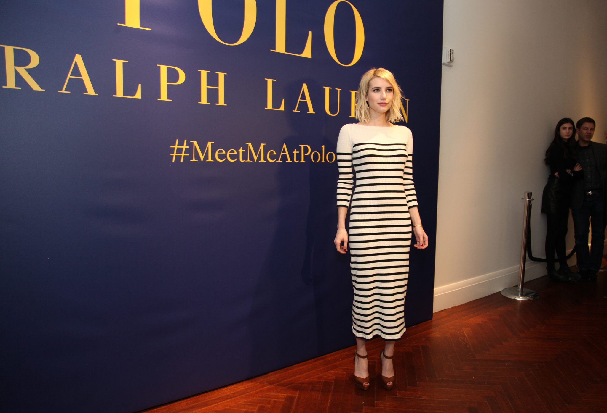 Emma Roberts Polo presentation, Front Row, Fall Winter 2016, New York Fashion Week, America - 12 Feb 2016