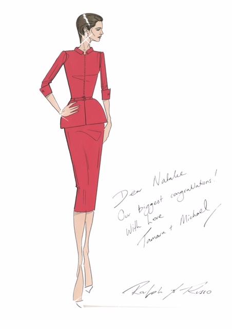 Ralph & Russo sketch Dame Natalie Massenet