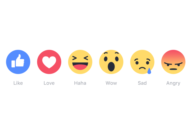 Facebook users can respond to any post in their News Feed with Like, Love, Haha, Wow, Sad or Angry.