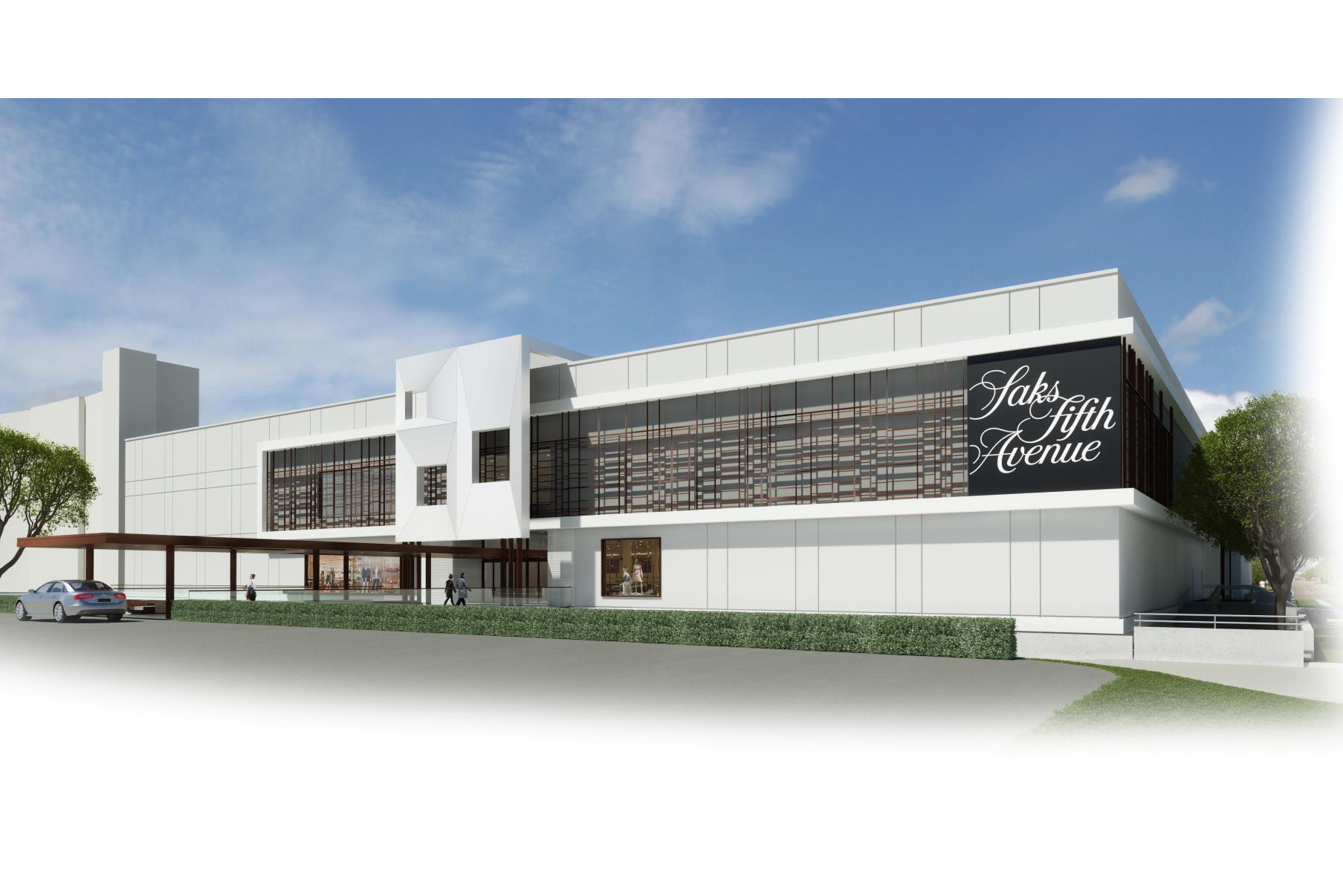 Rendering of the future Saks store in Houston