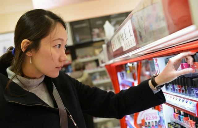 Shopper holiday shopping browsing