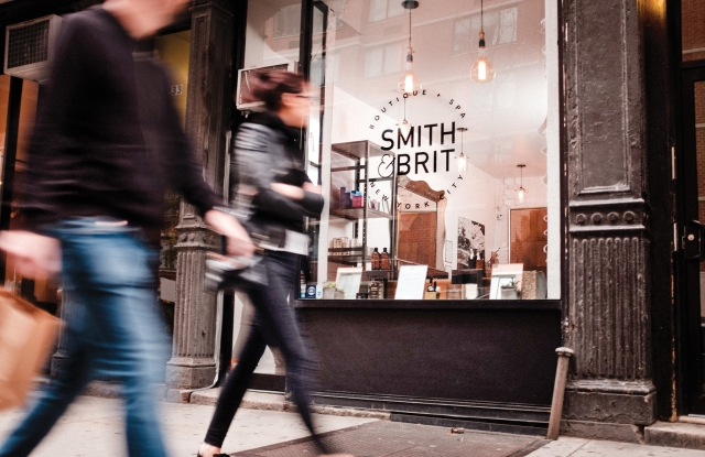 Outside the Smith & Brit boutique in Chelsea.