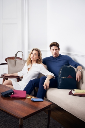 Smythson Spring 2016 Campaign Vanessa Kirby and James Norton