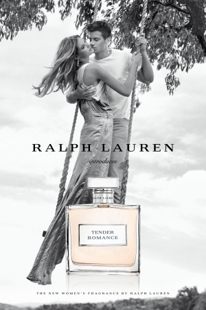 A visual for Ralph Lauren's Tender Romance ad campaign.