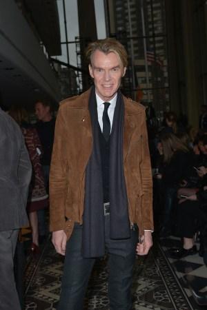 Ken Downing at Tory Burch show, Front Row, Fall Winter 2016, New York Fashion Week, America - 16 Feb 2016