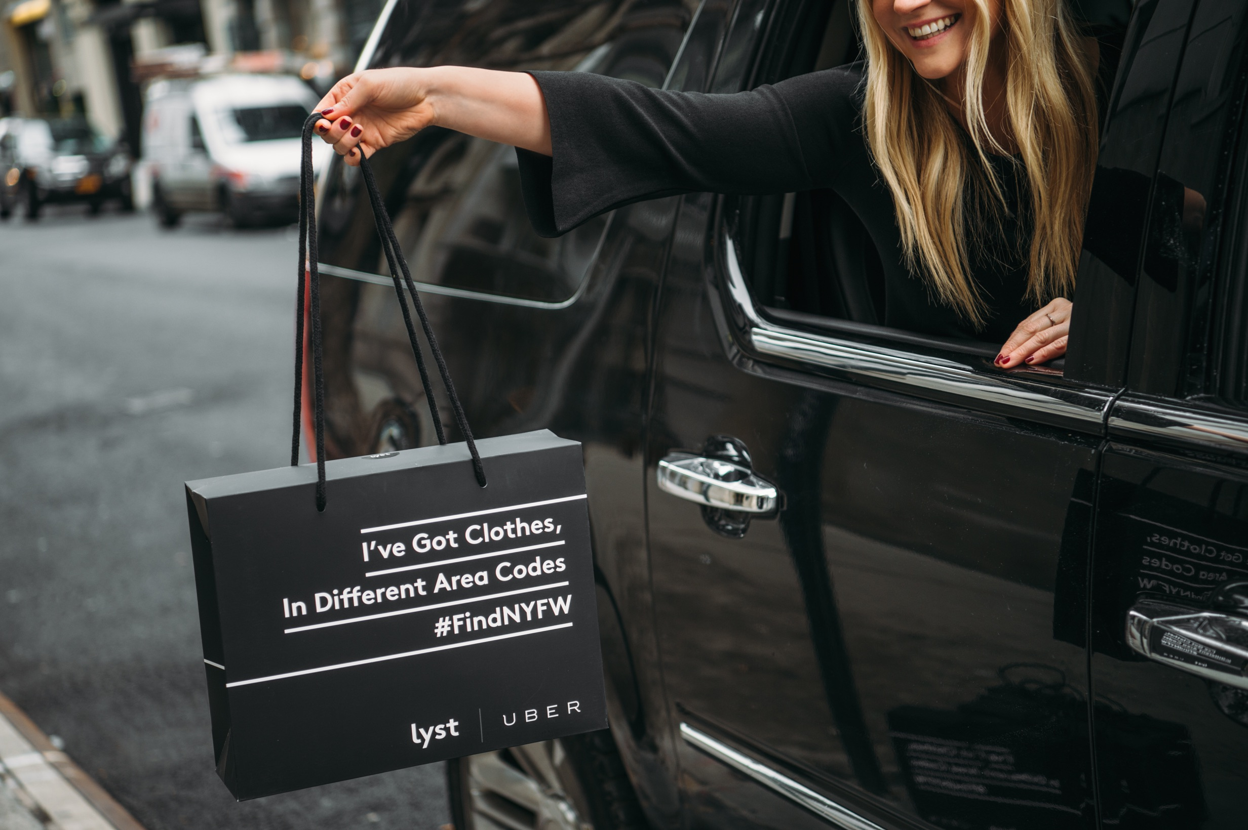 Lyst is giving away gift bags to New York Uber users during fashion week.