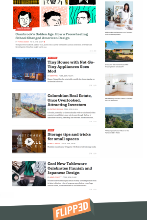 Curbed's redesigned site.
