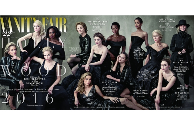 Vanity Fair's 2016 Hollywood Issue cover, shot by Annie Leibovitz