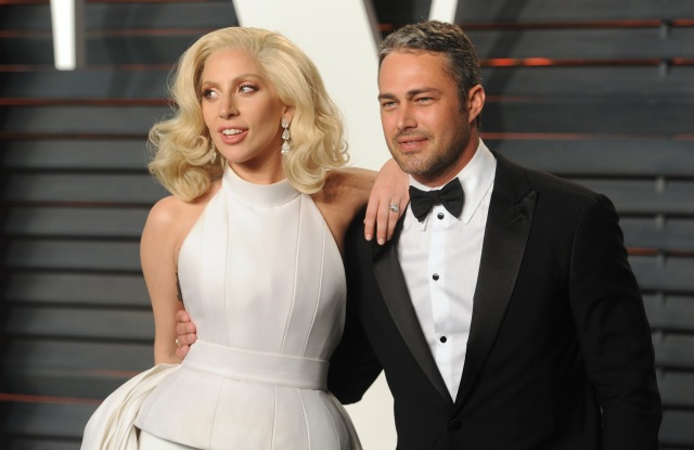 Lady Gaga and Taylor Kinney 2016 Oscars Vanity Fair After Party