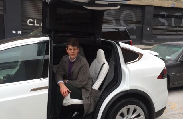 Wes Gordon in the Model X car
