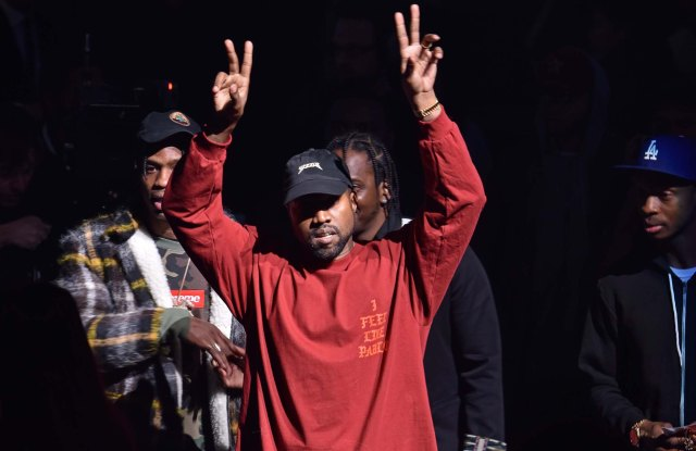 Kanye West front row at Yeezy RTW Fall 2016