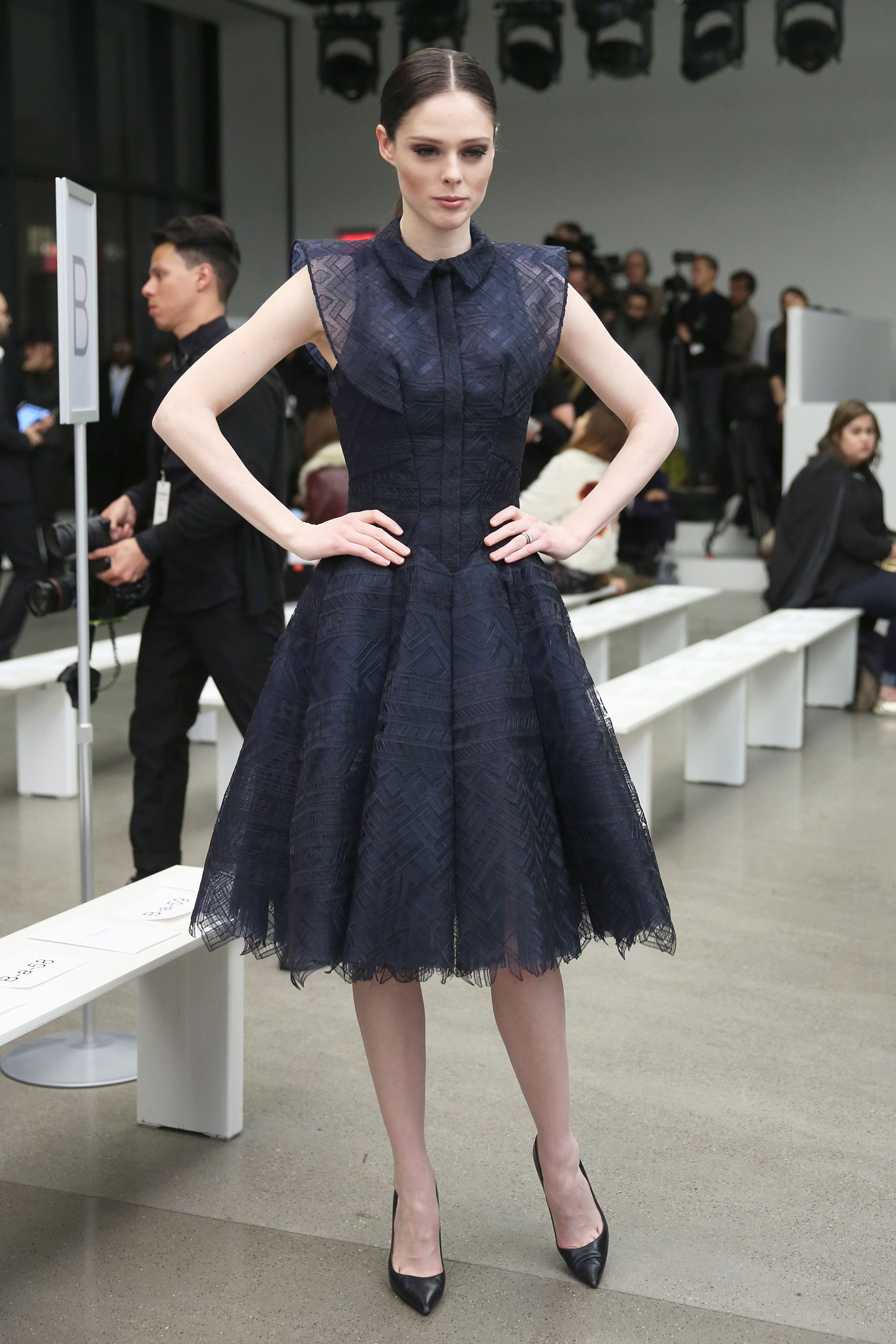 Coco Rocha at Front Row at Zac Posen RTW Fall 2016
