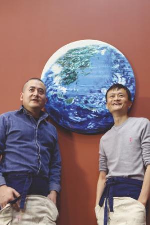 Zeng Fanzhi and Jack Ma.