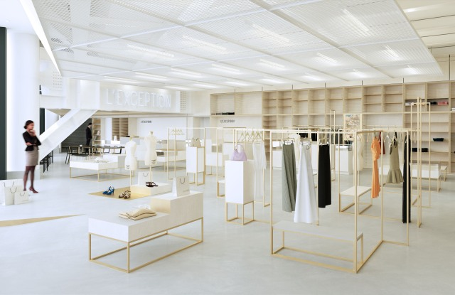 A rendering of L'Exception boutique