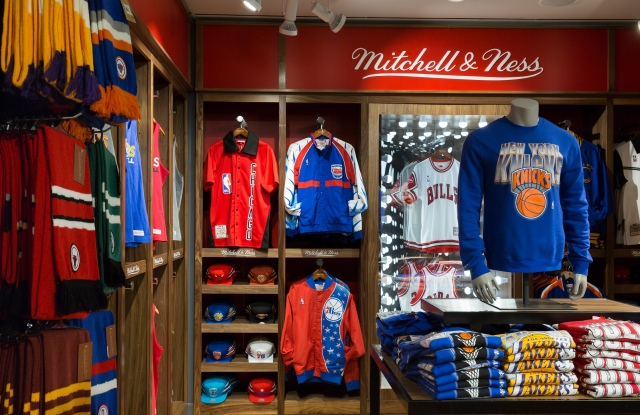 New York, NY March 6: The new Mitchell and Ness display at the NBA Store on March 6, 2017 in New York, New York. NOTE TO USER: User expressly acknowledges and agrees that, by downloading and/or using this photograph, user is consenting to the terms and conditions of the Getty Images License Agreement.  Mandatory Copyright Notice: Copyright 2017 NBAE (Photo by Steven Freeman/NBAE via Getty Images)