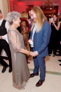 John Galliano with Joan Burstein