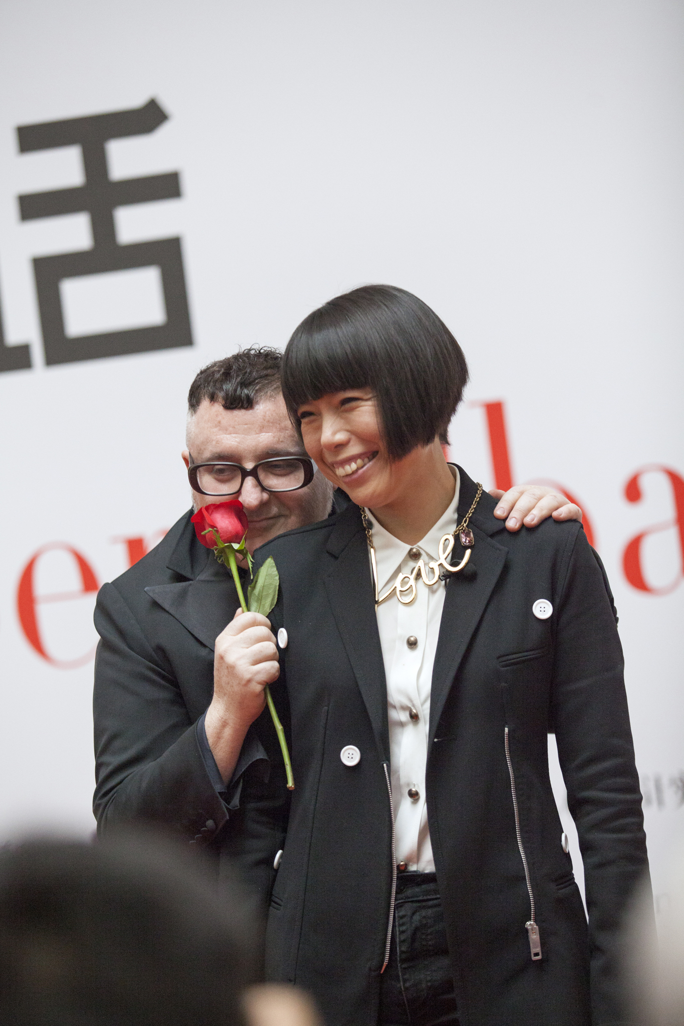 Alber Elbaz and Angelica Cheung