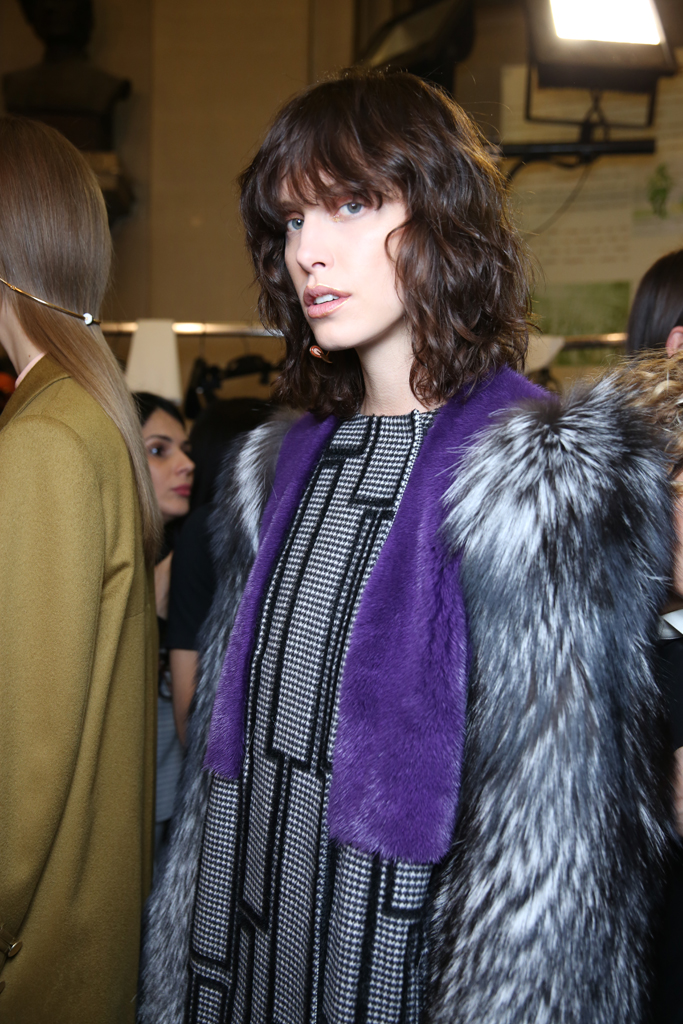 Backstage at Vionnet RTW Fall 2016