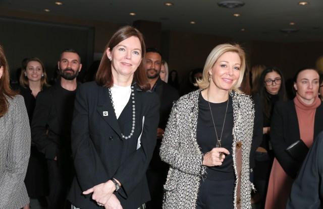 Nadja Swarovski with the UN Global Compact executive director Lise Kingo.