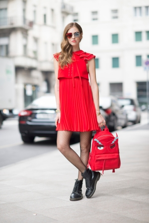 Chiara Ferragni at Milan Fashion Week.