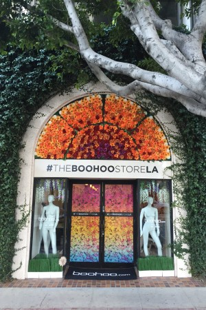 Boohoo Los Angeles pop-up space