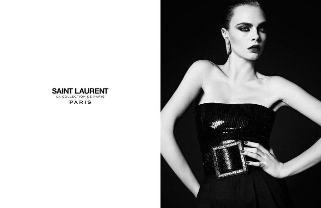 The Saint Laurent Couture Ads featuring Cara Delevingne