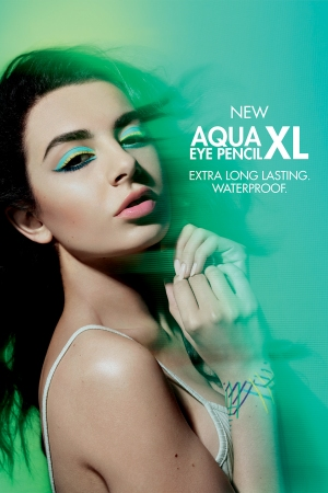Charli XCX in the Make Up For Ever Aqua XL campaign.