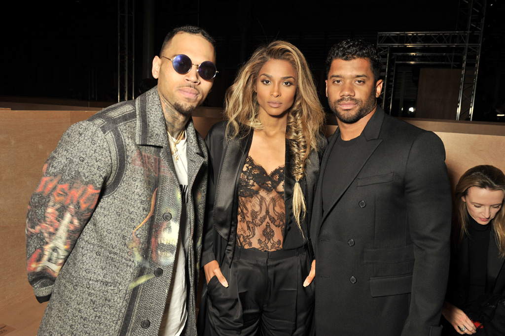 Chris Brown,Ciara and Russell Wilson